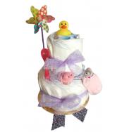 Gâteau de pampers 2 étages