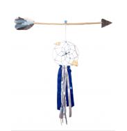 Attrape rêve bleu avec flèche