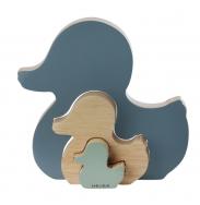Canard en bois puzzle Hevea