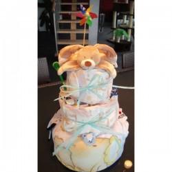 Gâteau de pampers 3 étages...